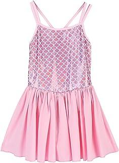Little Girl Ballet Tutu Dress Mermaid Fish Scale Skirted Leotard Ballerina Gymnastics Princess Dancewear Fancy Costume