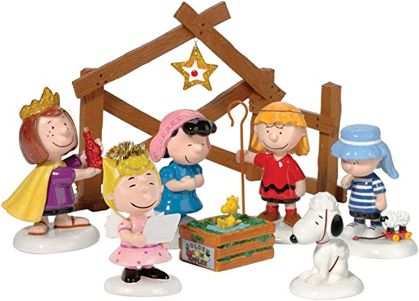 Department 56 Peanuts Pageant Set Of 8