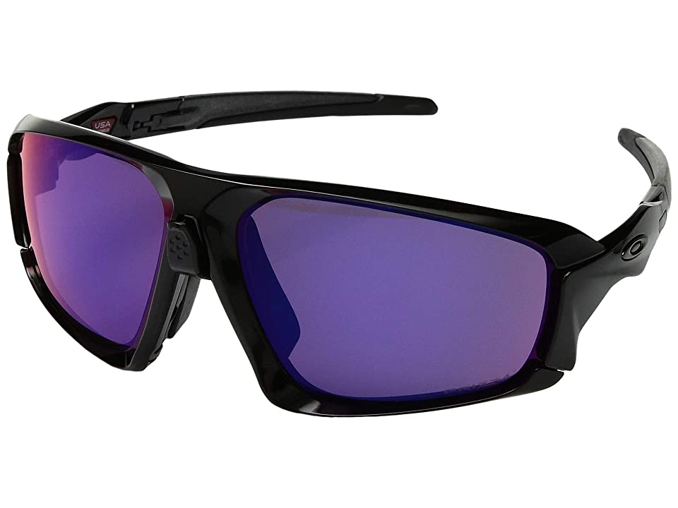 Oakley Field Jacket (Polished Black/Black w/ Prizm Road) Sport Sunglasses