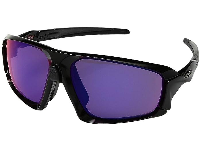 Oakley Field Jacket (Polished Black/Black w/ Prizm Road) Sport Sunglasses
