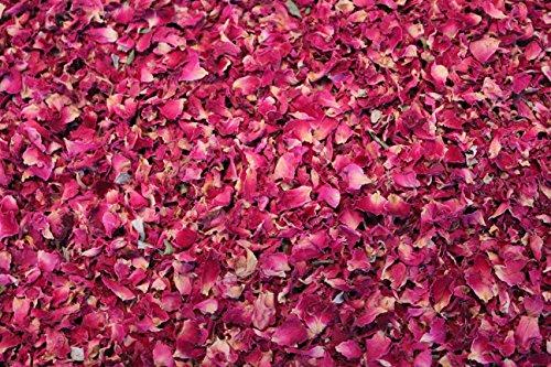 1000Kräuter Rosenblüten rot Rosenblütenblätter Essblüten Rosenblütentee (100g)