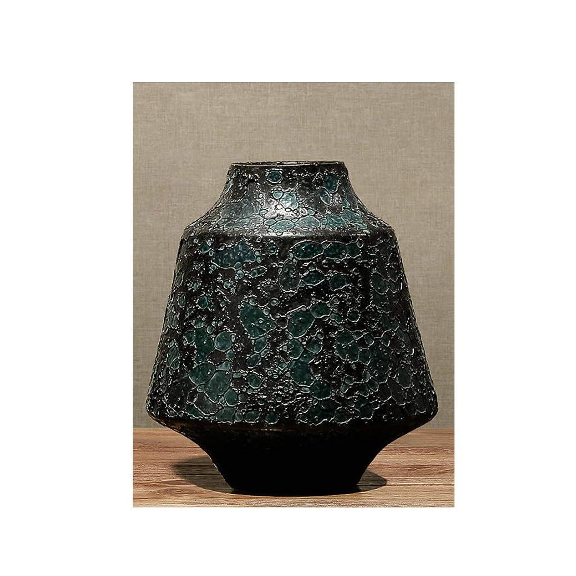 女優自分のためにやけど花器 ユニークなインテリアデザイン 陶磁器の装飾庭の装飾サイズピュアクラフツマンシップセラミック (Size : A high 19.5CM)