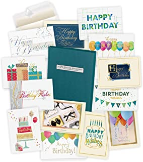 Birthday Cards Assortment Box (35 Greeting Cards) - with Foil and Embossing (Birthday Formal)