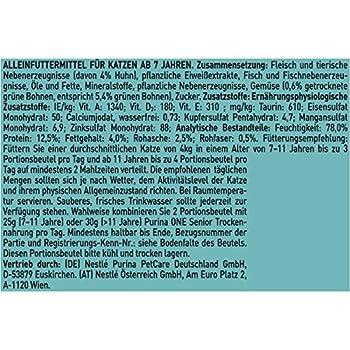Purina ONE Lot de 24 sachets de Nourriture pour Chat de qualité supérieure Riche en vitamines et minéraux
