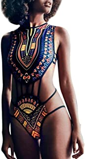 Ropa De Baño Bohemia Bañador de una Pieza Bikini Mujer 2018 con Relleno Impresión Africana Retro Viento Nacional Bikini Push Up Mujer Playa Bikinis Mujer Traje De Baño Mujer