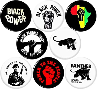 """BLACK PANTHER PARTY #2 8 NEW 1 Inch (25mm) Set of 8 BLACK LIVES MATTER Buttons Badges Pins 1"""" BLM"""
