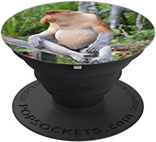 Strange Weird Unusual Animals Proboscis Long Nose Monkey - PopSockets Grip and Stand for Phones and Tablets