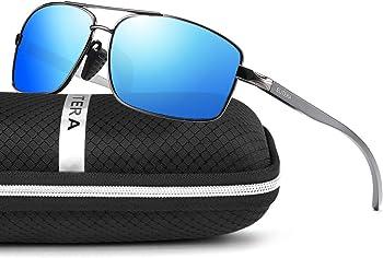 Elitera Men's Lightweight Square Polarized Sunglasses