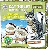 Ducomi KatWC Training Kit d'entraînement pour Chats – Encourage Le Chat à Utiliser la Toilette – Alternative litière pour Chats – WC Chat – Système éducatif (kit d'entraînement + Jeu)