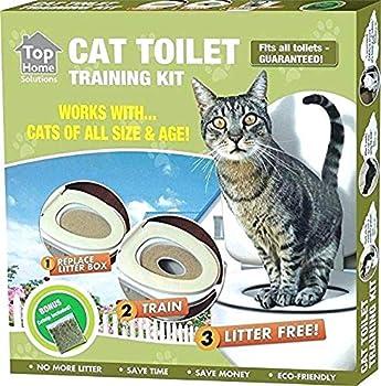 Ducomi KatWC Training Kit d'entraînement pour chats – Addroitier – Alternative à la litière pour chats – WC et chat – Système d'éducation Utilisation du WC pour chats (Training Kit)