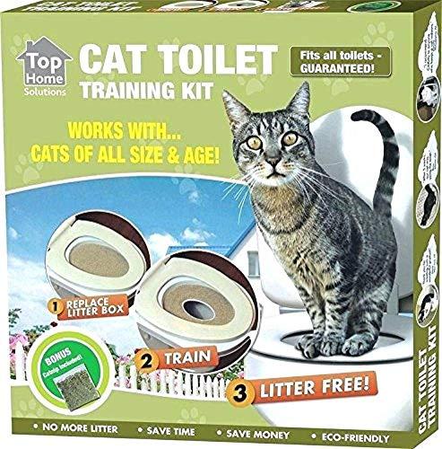 Ducomi KatWC Training Kit Addestramento Gatti - Addestra Il Gatto ad Usare la Toilette - Alternativa Lettiera Gatti - WC Gatto - Sistema Addestramento Uso WC per Gatti (Training Kit + Gioco)