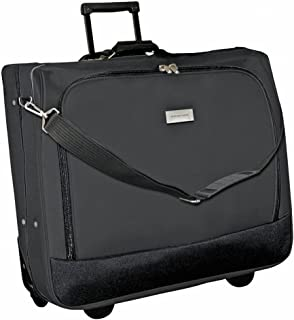 Deluxe Rolling Garment Bag - Travel Garment Carrier With Wheels - Black