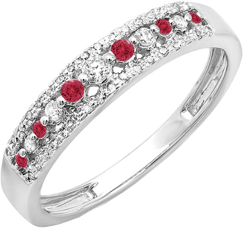 Dazzlingrock Collection 14K Round Gemstone Ladies Diamond Max Max 42% OFF 62% OFF Anni
