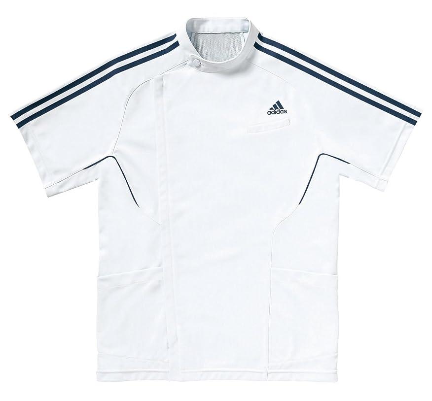 有利乳製品袋医療/介護ユニフォーム  アディダス メンズジャケット半袖 KAZEN ネイビー SMS601-18