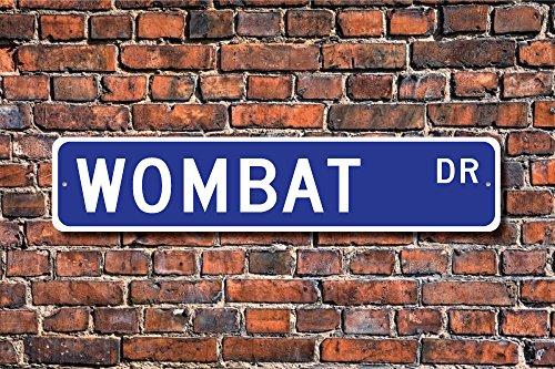 Aersing Lustige Metallschilder Wombat Geschenk Schild Dekor Liebhaber Marsupial Indianer Australien Garage Haus Hof Zaun Auffahrt Straße Dekor