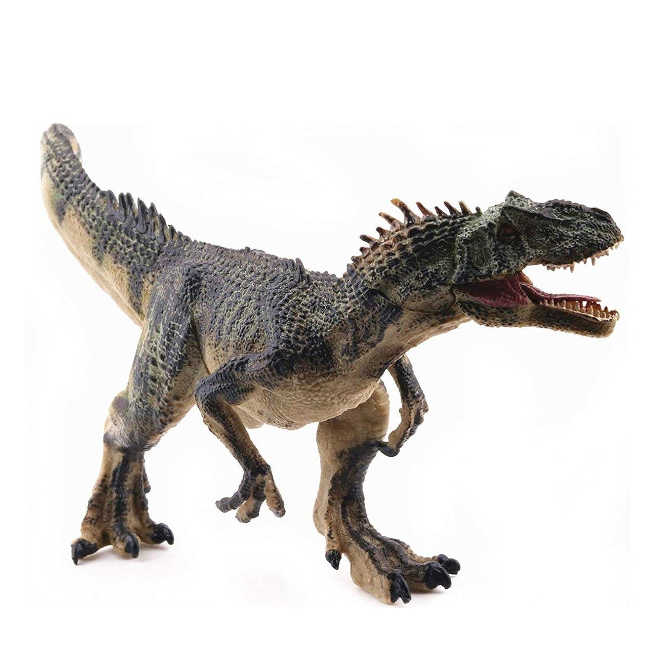 海凍る燃やすSaikogoods シミュレーションアロサウルスリアルな恐竜の模型玩具置物アクションは 子供のためのホームインテリア教育玩具フィギュア 緑