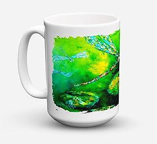 Caroline's Treasures MW1114CM15 Dragonfly Summer Flies Microwavable Ceramic Coffee Mug, 15 oz, Multicolor