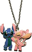 New Horizons Production Lilo and Stitch and Angel Character Pendant Necklace