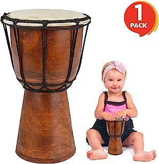 "ArtCreativity 8 ""Mini Drum اسباب بازی چوبی مخصوص کودکان | چوب قهوه ای قهوه ای و طراحی معتبر | ساز موسیقی سرگرم کننده برای کودکان | ایده هدیه ، لوازم مهمانی ، جشن تولد مورد علاقه پسران ، دختران ، کودکان نو پا"