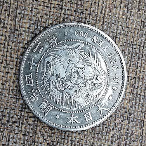 Japan,Eine Runde,Gedenkmünze,Sammlung,Exquisite,Hohe Qualität,Silberdollar,Geschenk,Meiji 36,Meiji 42,2St Entscheidungswährung/C/Einheitlicher Code