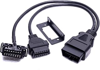 Tonsiki OBD2 OBDII Y Adapter Diagnostic Connector Cable Fits for All Cars