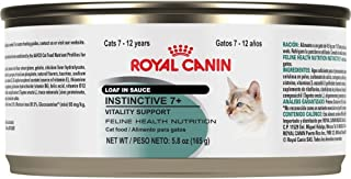 Royal Canin Feline Health Nutrition Instinctive 7+ Loaf In Sauce Canned Cat Food, 3.0