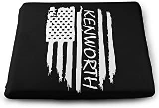 Ganenken American Flag Kenworth Square 100% Memory Foam Comfort Seat Cushion for Chair Butt Pad for Coccyx