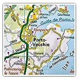 Impresionantes pegatinas cuadradas (juego de 2) 10 cm – Porto-Vecchio Francia mapa de viaje divertido calcomanías para portátiles, tabletas, equipaje, reserva de chatarras, neveras, regalo fresco #46161