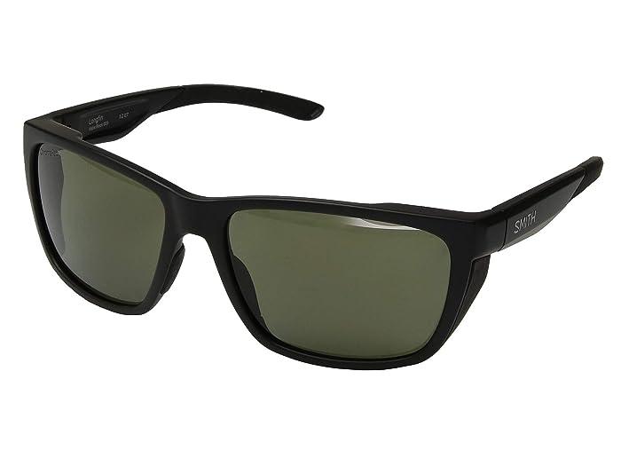 Longfin (Matte Black/ChromaPop Polarized Gray Green Lens) Athletic Performance Sport Sunglasses