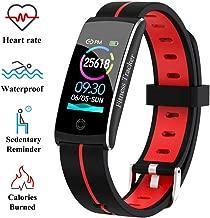 Wysgvazgv Fitness Tracker Reloj Pulsera Activity Tracker pulsómetro de muñeca Monitor del sueño presión sanguigna IP68 Pantalla a Color notificaciones Android iOS Mujer Hombre