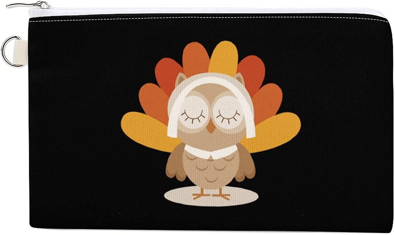 Believe I'm A Turky Women's Canvas Coin Purse Change Pouch Zip Wallet Bag