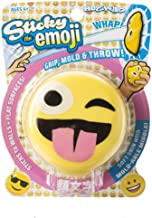 Hog Wild Sticky Emoji - Squishy Toy Splats and Sticks to Flat Surfaces - Assorted Styles - Age 4+