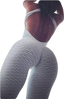 Womens Butt Lift Yoga Jumpsuit Sleeveless Backless Sport Bandage Romper Playsuit