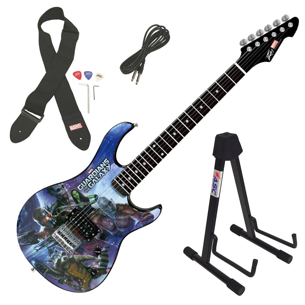 Cheap Peavey Rockmaster Full Marvel Guardians Of The Galaxy Electric Guitar & Stand Black Friday & Cyber Monday 2019