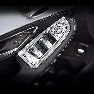 AUTO Pro para Mercedes-Benz C180LC200LC260L Parche Decorativo de Diamante para Ventana de Puerta de