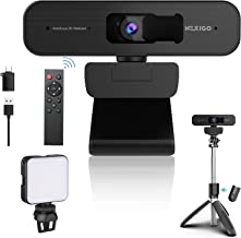 2K Zoomable Webcam Kits, AutoFocus, Support 1080P@ 60FPS, 3X Digital Zoom, Remote Control, Extendable Selfie Tripod Stand,...