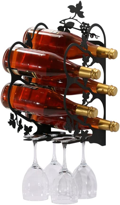 Village Wrought Iron Sale SALE% OFF New popularity Large Wall Rack Mount Wine Grapevine