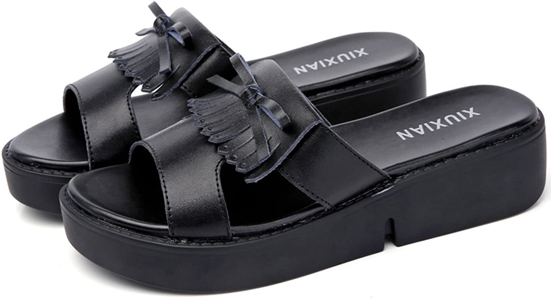 Navoku Womens Anti-Skid Leather Slide Sandals Sandles