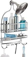 InterDesign York Lyra - Bathroom Jumbo Shower Caddy Shelves - Silver - 16 x 4 x 22 inches