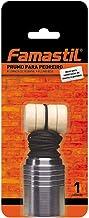 Prumo para Pedreiro Famastil – Metal – 900g – Prumo + Corda + Taco – Ideal para construção e engenharia civil