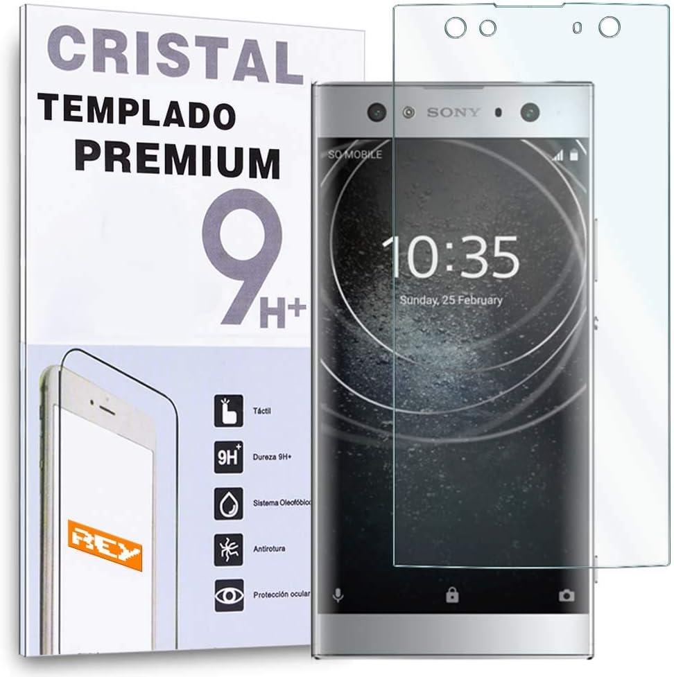 REY Protector de Pantalla para Sony Xperia XA2 Ultra, Cristal Vidrio Templado Premium