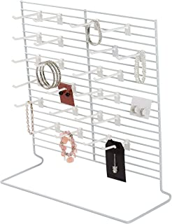 SSWBasics 24-Peg White Wire Countertop Rack - 18