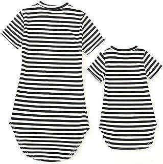 Trajes a Juego de la Familia Ropa para Madre e Hija Vestido Baby Girl Camisa a Cuadros