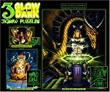 Ceaco 3in1 Glow in the Dark Jigsaw Puzzles-Spell Bound, Dragon Spell, and Blue Dragon