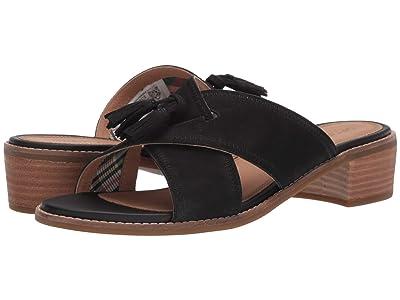Sperry Seaport City Sandal Tassel Slide Leather (Black) Women