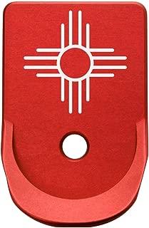 Magazine Base Plate for Glock Gen 1-5 Finger Extended 9MM .357 .40 Red - Choose Your Design