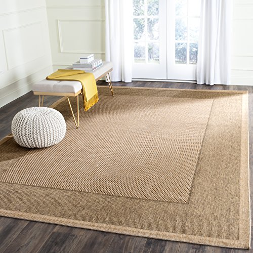 Safavieh Courtyard Collection CY7987 Indoor/ Outdoor Area Rug, 9' x 12', Natural / Gold