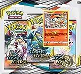 COMICTOYZ Pokémon POK82591 TCG: Sun & Moon 12 Cosmic Eclipse Blister 3-Pack Display VICTINI Card Mixed Colours