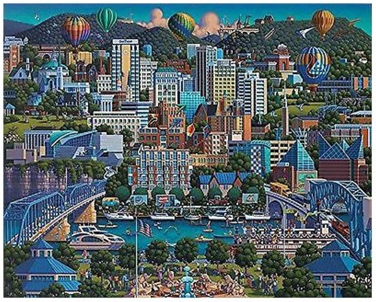 Dowdle Folk Art Chattanooga Puzzle, 500 Pieces by Dowdle Folk Art