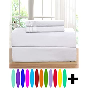 Standard Hypoallergenic Lime Elegant Comfort Luxurious Set on  1500 Thread Count Hotel Quality Wrinkle,Fade and Stain Resistant 2-Piece Pillowcases